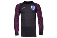 Nike England 2016 Stadium Kids L/S Goalkeepers Football Shirt