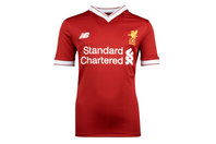 New Balance Liverpool FC 17/18 Home Kids S/S Football Shirt