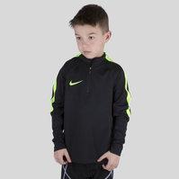 Nike Squad 1/4 Zip Kids L/S Midlayer Football Training Top