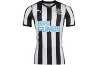 Puma Newcastle United 17/18 Home Authentic S/S Football Shirt