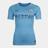 Nike Manchester City 17/18 Ladies Home Replica S/S Football Shirt