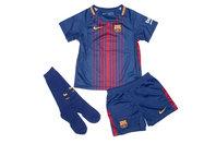 Nike FC Barcelona 17/18 Little Kids Home Unsponsored Football Kit