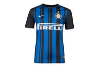 Nike Inter Milan 17/18 Kids Home Replica S/S Football Shirt