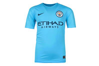 Nike Manchester City 17/18 Kids Home Replica S/S Football Shirt