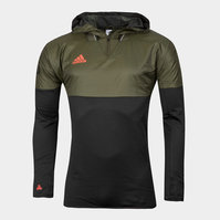 adidas Tango Football Hybrid Hooded Training Top