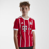 adidas Bayern Munich 17/18 Home Kids S/S Replica Football Shirt