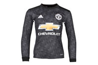 adidas Manchester United 17/18 Away Kids L/S Replica Football Shirt