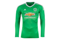 adidas Manchester United 17/18 Away L/S Goalkeepers Football Shirt