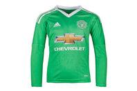 adidas Manchester United 17/18 Kids Away L/S Goalkeepers Football Shirt