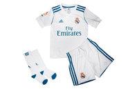 adidas Real Madrid 17/18 Mini Kids Home Replica Football Kit