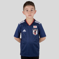 adidas Japan 2018 Home Kids S/S Replica Football Shirt
