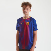 Nike FC Barcelona 17/18 Kids Home Unsponsored Replica S/S Football Shirt
