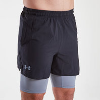 Under Armour Qualifier 2 in 1 Woven Shorts